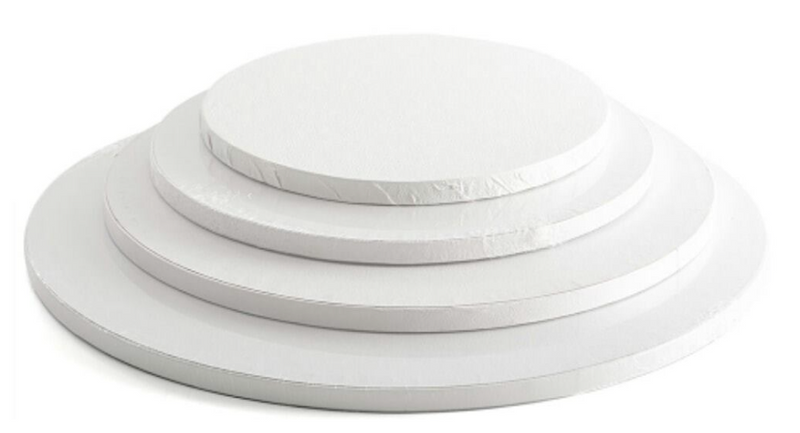 "White Round Cake Drums Bulk - 1/2 "" thick"