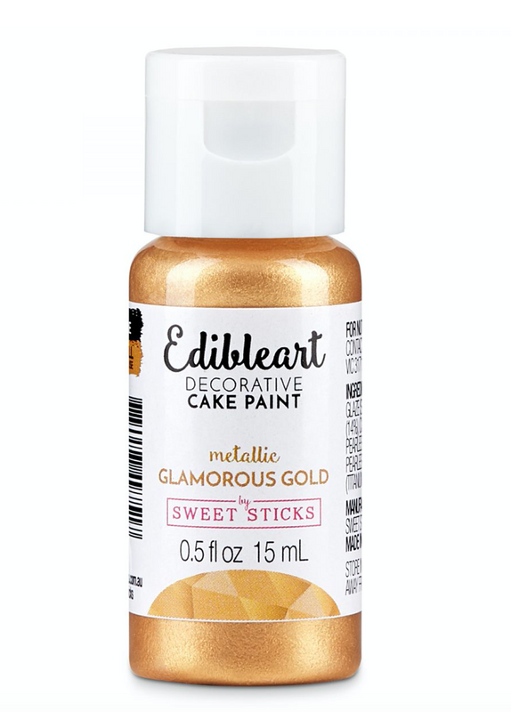 Metallic Glamorous Gold 15mL - Edible Art Decorative Paint