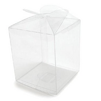 Clear Apple Box 3-5/8X3-5/8X4-1/4