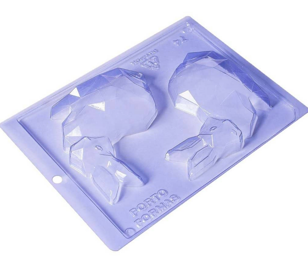 Diamond Bunny 3-Part Chocolate Mold