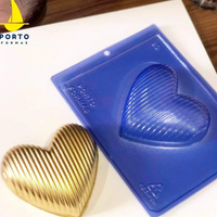 Striped Heart Chocolate Mold