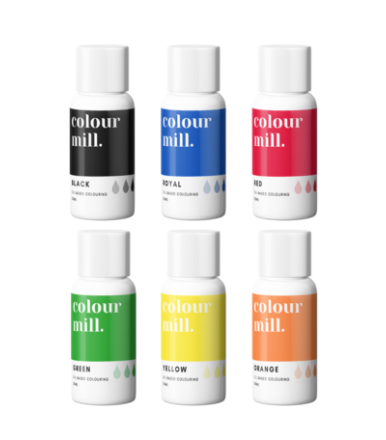 Colour Mill Oil Based Colouring 20ml 6 Pack Primary