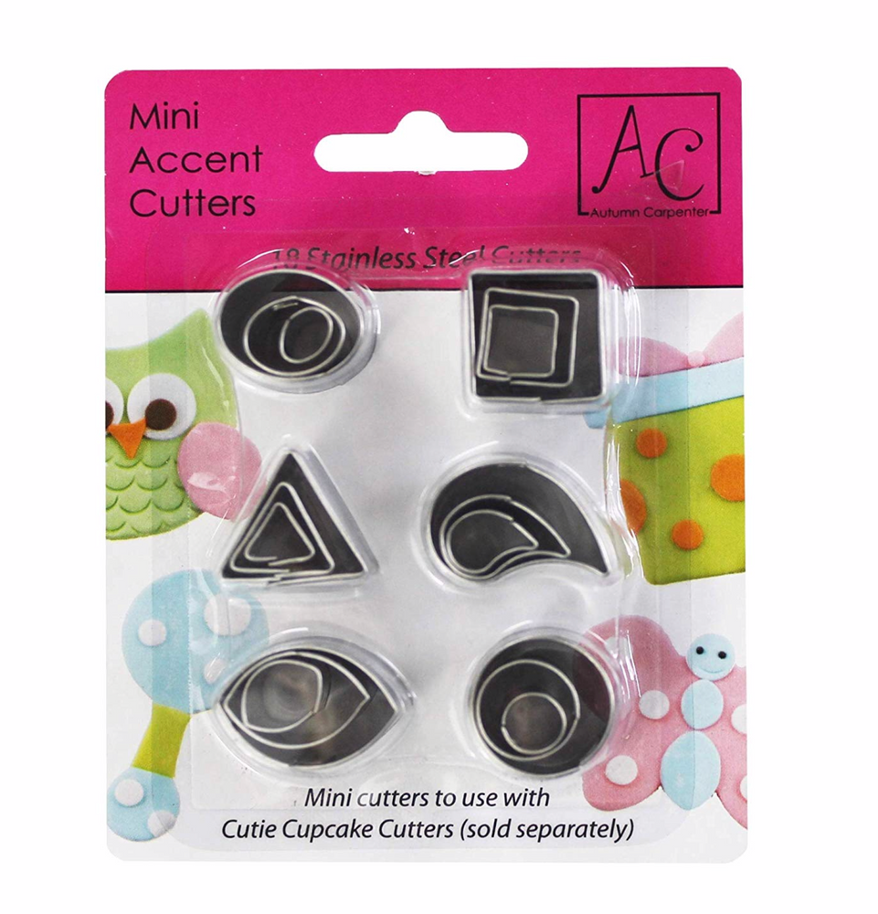 Autumn Carpenter Designs Cutie Fondant Cutter Set - Accents