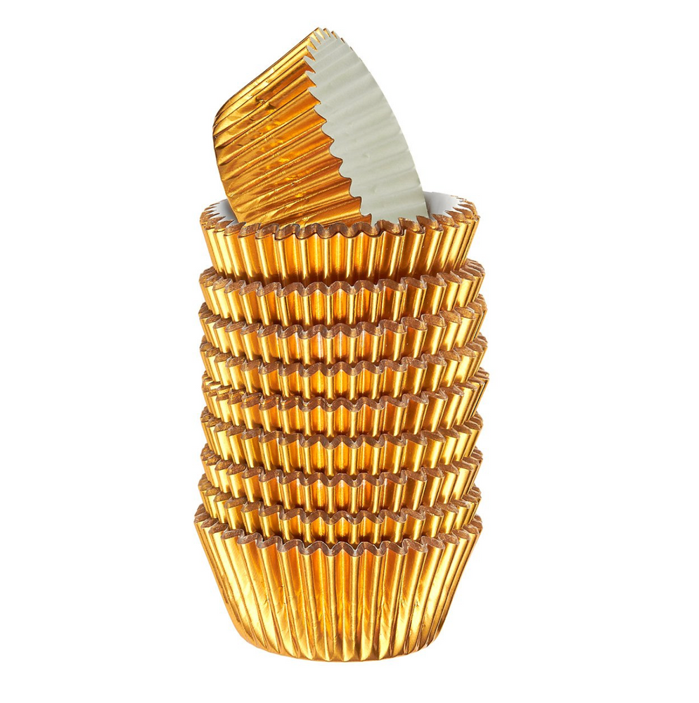 Gold Foil Cupcake liners – standard size