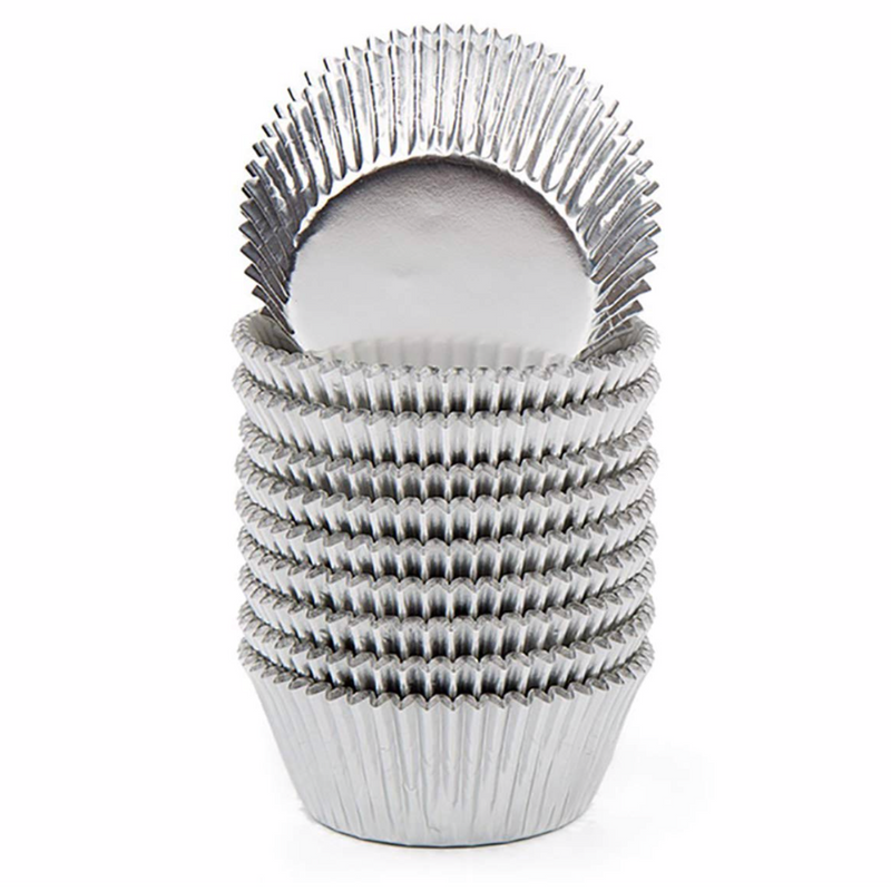 Silver Foil Cupcake liners – standard size