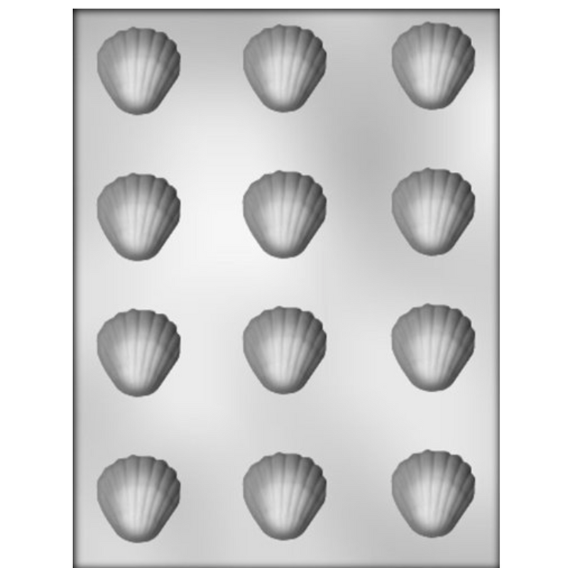 1 and 1/2 Inch Shell Chocolate Mold