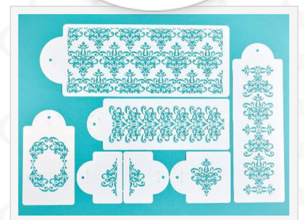 Five Tier Cake Lace Stencil Set