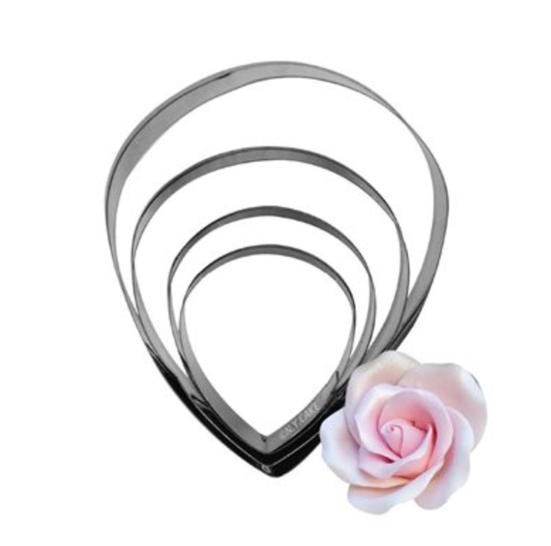 Rose Petal Cutter, Set of 4