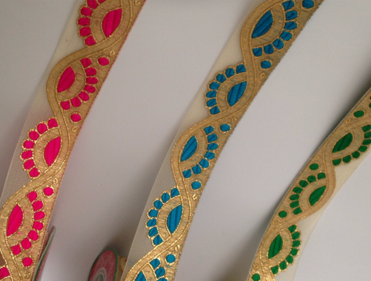 Gold Lace Ribbon - Various Colours