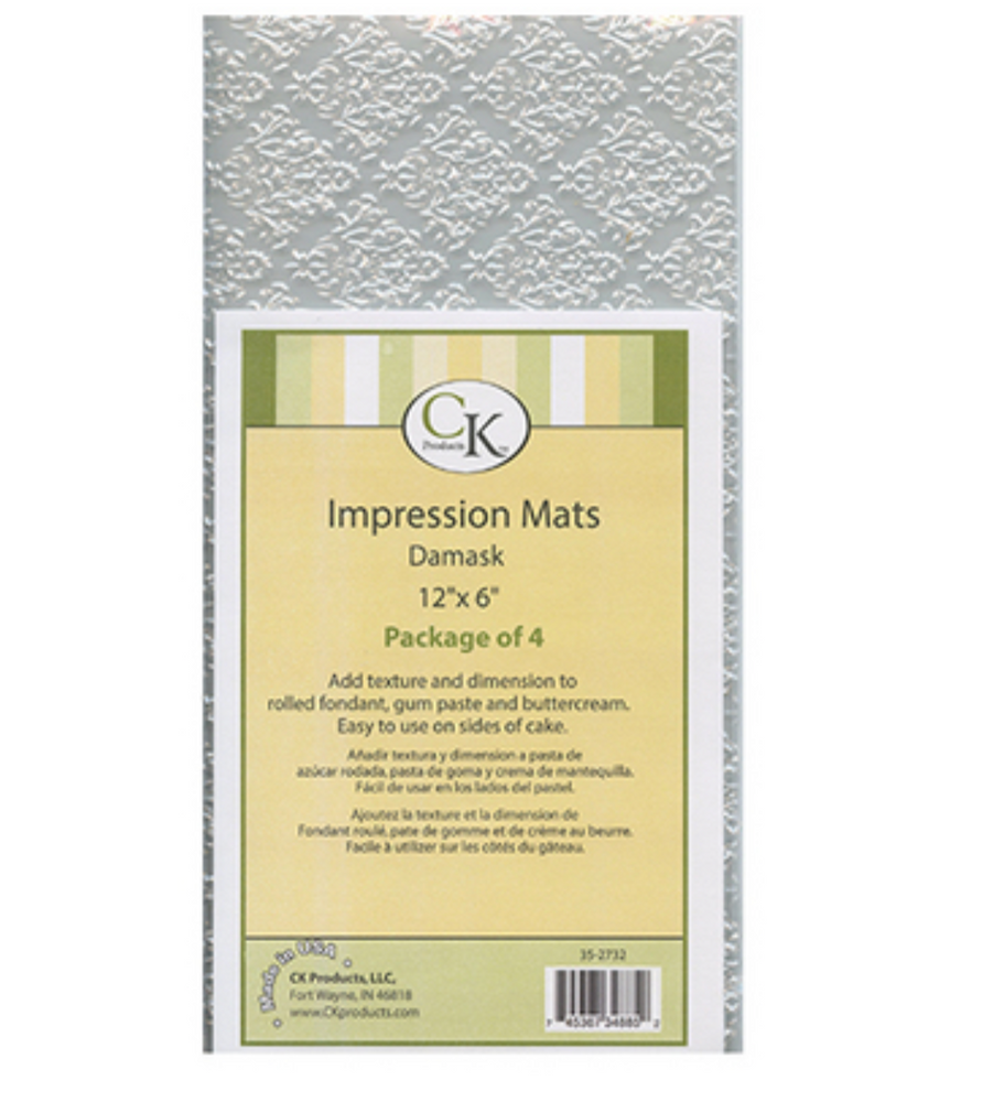 Impression Mat - Damask set of 4