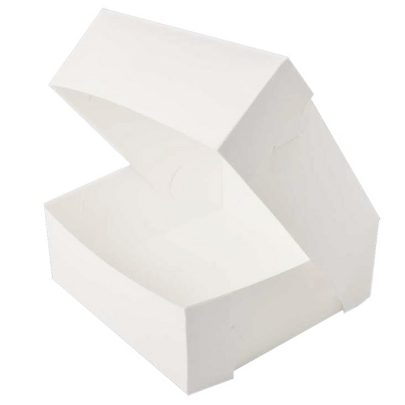 White Box 10 x 10 x 4 Inch fits 6 Cupcakes or 12 mini cupcake
