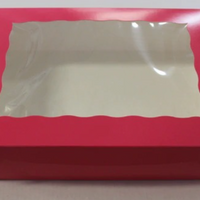 Pink window Box 10 x 10 x 4 Inch - fits 6 Cupcakes or 12 mini cupcakes