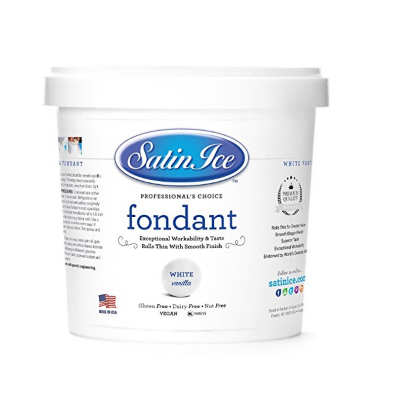 Satin Ice Rolled Fondant - White - Vanilla - 1 kg