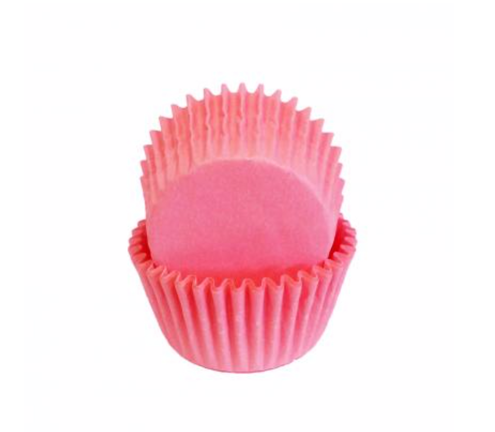 Mini Greaseproof Baking Cups – Light Pink