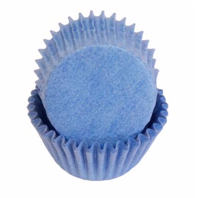 Mini Greaseproof Baking Cups – Light Blue