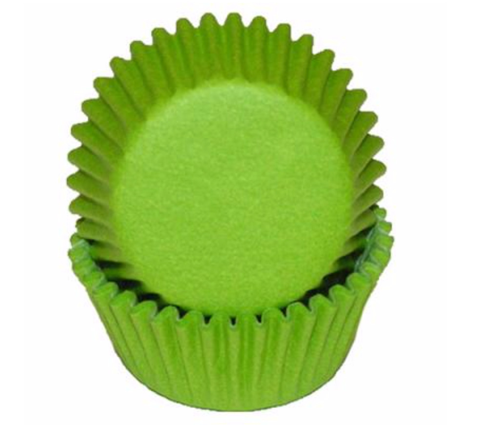 Mini Greaseproof Baking Cups – Bright Green