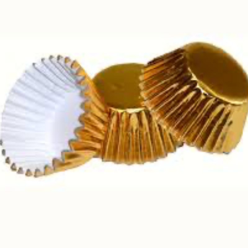 Gold Foil Cupcake liners – mini size