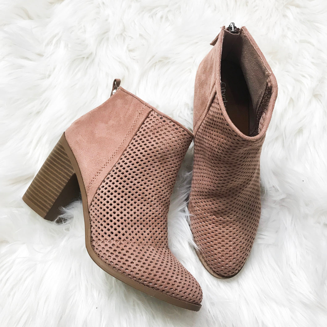 Perf booties with heel