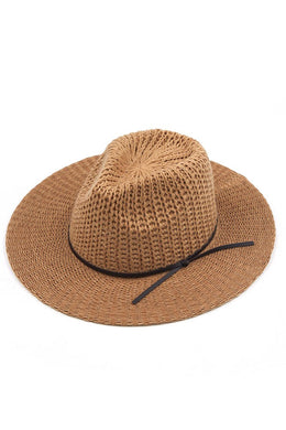 C.C knit panama hat *2 colors