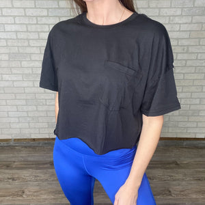 Cropped pocket tee *2 colors