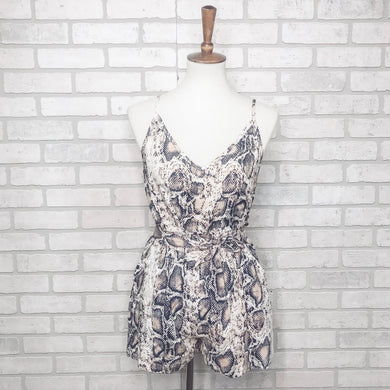SAMPLE 2-piece snake print tank and short set, romper