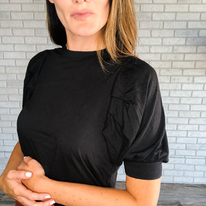 Puff sleeve fashion top