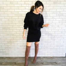 Load image into Gallery viewer, Sweatshirt dress with ribbed bottom