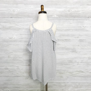Girls cold shoulder polka dot tunic top