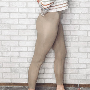 Muted high waist leggings