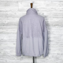 Load image into Gallery viewer, SAMPLE Eyelet pieced track jacket
