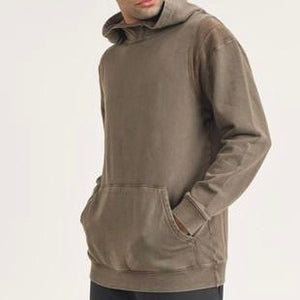 MENS & Women's pullover mineral wash hood