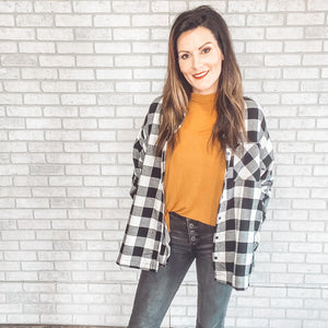 Buffalo Plaid shirt jacket