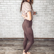 Load image into Gallery viewer, High waist leggings with mesh pocket overlay *3 colors
