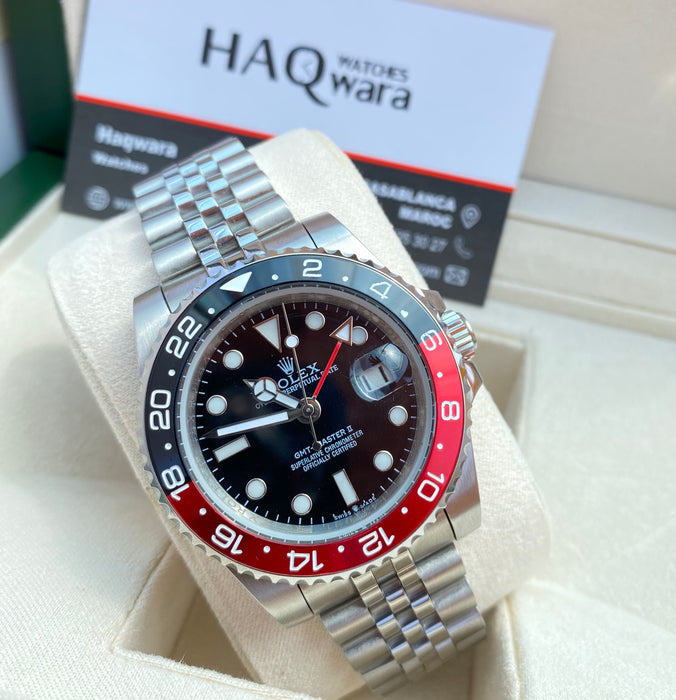 Montre RLX GMT 2 Rouge Noir