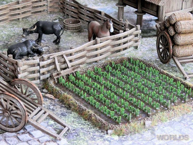 3DAlienWorlds Medieval/Fantasy/Samurai Rice/Ploughed Fields 28mm TableTop/Wargaming