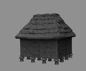 MC200017 Granary, Store 28mm TableTop/Wargaming/Medieval Buildings