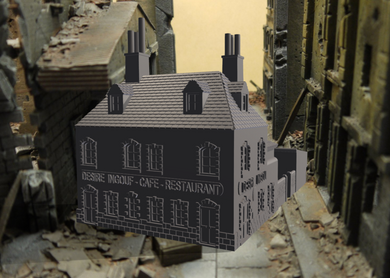 Wow Cafe Ingouf WWII War gaming Building