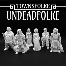 Load image into Gallery viewer, Ill Townsfolke: Undeadfolke Top/Wargaming/Medieval Figure Ill Gotten Games