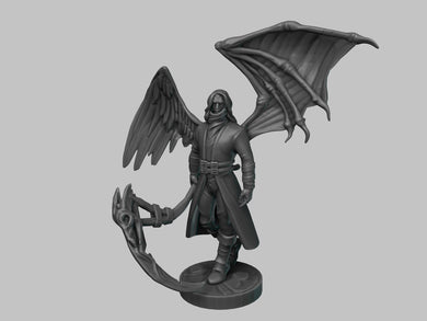 Iron Wolf Art 28mm wargaming and collectible miniature, Raven Figure, Dungeons and Dragons