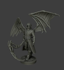 IWA 28mm wargaming and collectible miniature, Raven Figure, Dungeons and Dragons