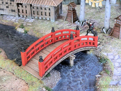 3DAlienWorlds Medieval/Fantasy Ornamental wooden bridge 28mm TableTop/Wargaming/Medieval Buildings 3D Printed