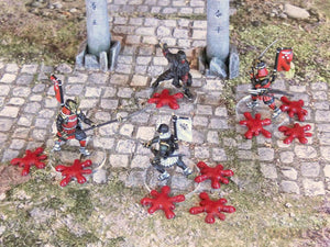 3DAlienWorlds Samurai Blood Drop Markers 28mm TableTop/Wargaming