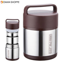 1.6L/1.8L/2L Vacuum Insulated Lunch Box Stainless Steel Jar Hot Cold Thermos Food Container