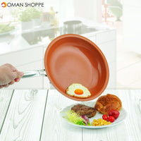 10'' Non-stick Aluminum Alloy Fry Pan Frying Pan Ceramic Coating Wear-Resistant
