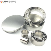 12pcs Stainless Steel Round Cake Biscuit Cookie Cutter Mold Baking Mould Baking Mold
