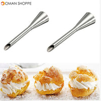 1Pcs High Quality Puffs Cream Icing Piping Nozzle Tip Stainless Steel Long Puff Nozzle Tip Decorating Tool Pastry Decoration Tools