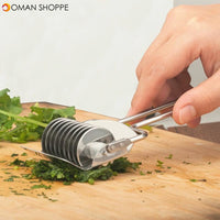 1Pcs Stainless Steel Onion Chopper Slicer Garlic Coriander Cutter Cooking Tools Slicing Tool Kitchen Accessories Gadgets Vegetable Cutter
