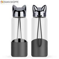350ML Glass Water Bottle Cup Travelling Lovely Leak-Proof Insulated Mugs Home Office