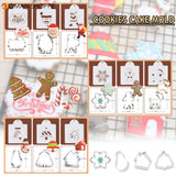 3D Vintage Christmas Key Frame Silicone Mould Cake Fondant Craft Baking Decor Ice Mold Tool