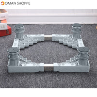 4 Foot Adjustable Refrigerator Undercarriage Bracket Stand Washing Machine Base